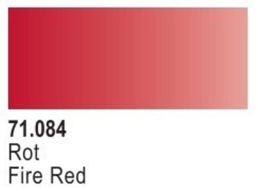 VALLEJO ACRYLIC (VLJ) 71084 - FIRE RED  Model Air 17ML