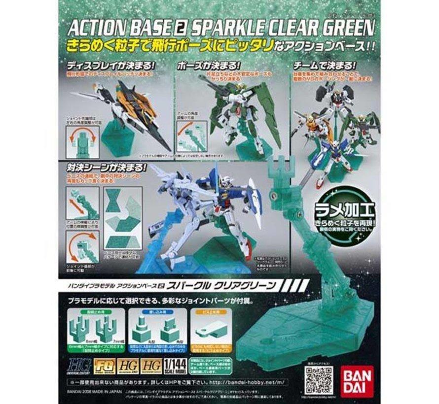 153708 Green Action Base2 Display Stand 1/144  Bandai