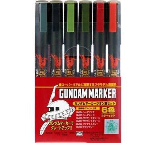 Mr. Hobby GSI - GNZ GMS108 Gundam Marker Zeon Set of 6