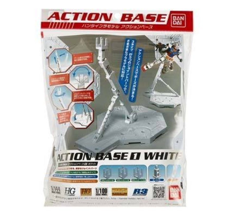 148217 1/100 White Display Stand Action Base I