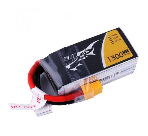 Tattu (D) Tattu 1300mAh 4S 75C Lipo Battery Pack with XT60 Plug
