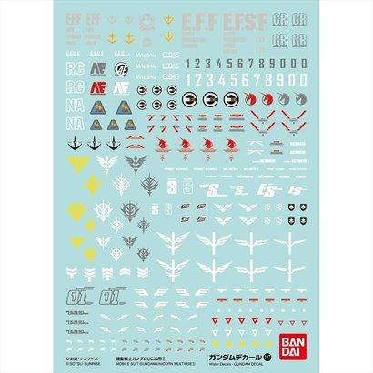 BANDAI MODEL KITS 219606 Decal Sets No.107 Mobile Suit Gundam Uc 1