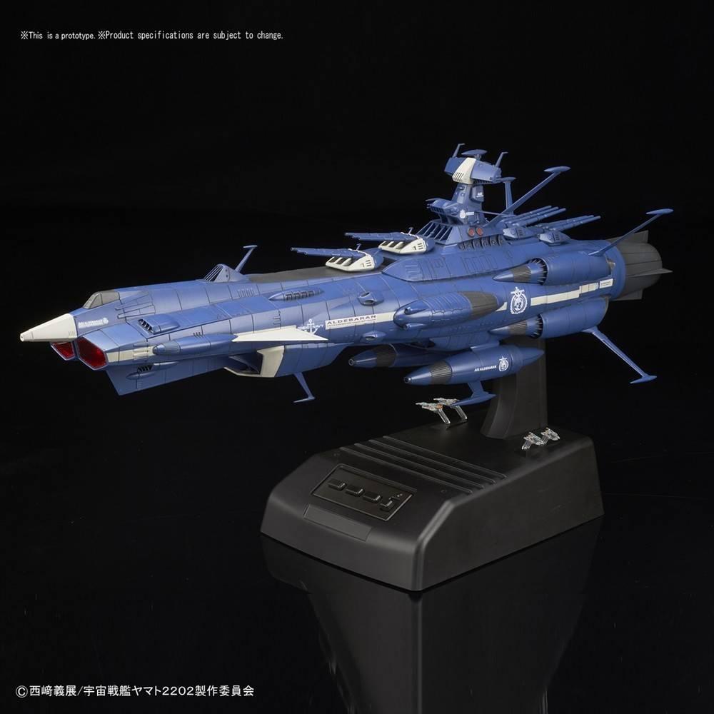 """BAN - Bandai Gundam (D) 217848 Aldebaran (Movie Effect Ver.) """"Yamato 2202"""",  Bandai Star Blazers 1/1000"""