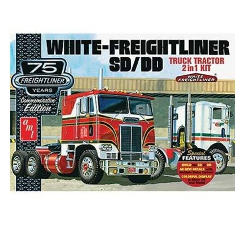 AMT - AMT Models AMT1046/06 1/25 White Freightliner 2-in-1 SC/DD Cabover 75th