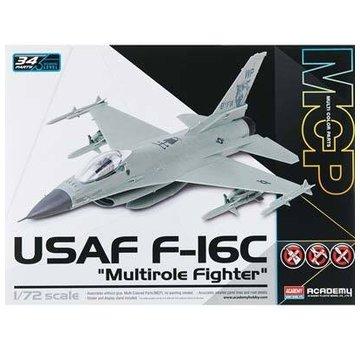 Academy (ACY) 1/72 F-16C USAF Multirole Fighter