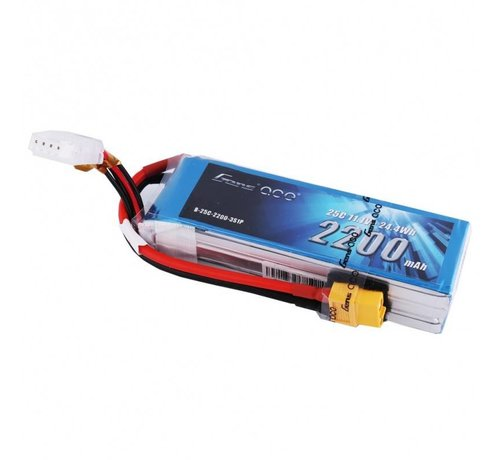 Gens ace Gens ace 2200mAh 3S 11.1V 25C Lipo Battery Pack with XT60 plug