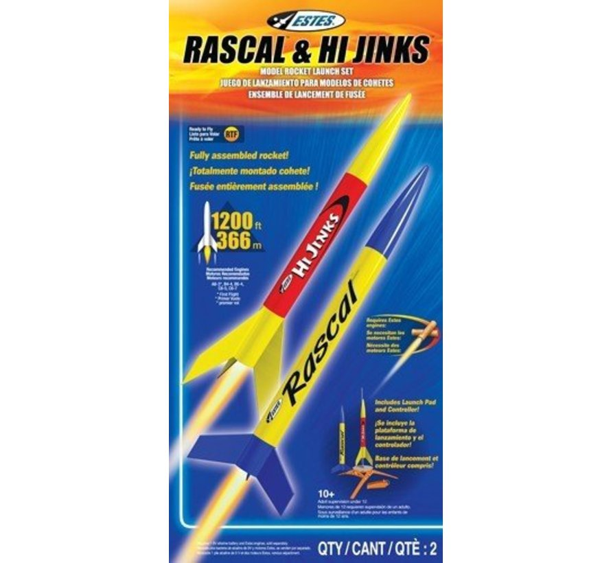 001499 Rascal and HiJinks Launch Racket Set RTF Ready