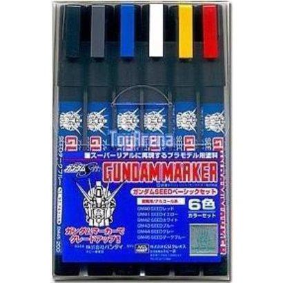 GNZ-Gunze Sangyo GMS109 BANDAI Gundam Marker Seed Basic Set 6