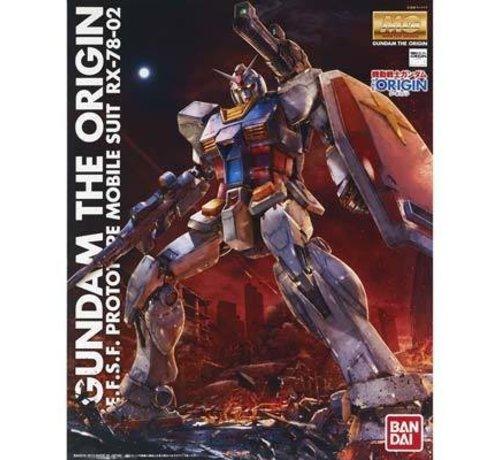 """BANDAI MODEL KITS 201314 RX-78 02 Gundam """"Gundam The Origin"""" Bandai MG"""