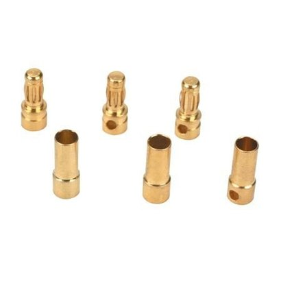 EFL - E-flite A241 Gold Bullet Connector Set 3.5mm 3