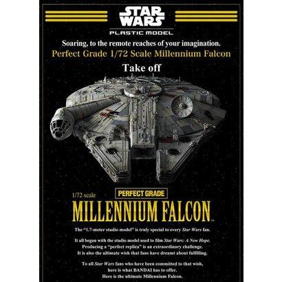 BANDAI MODEL KITS Star Wars Millennium Falcon 1/72 Perfect Grade
