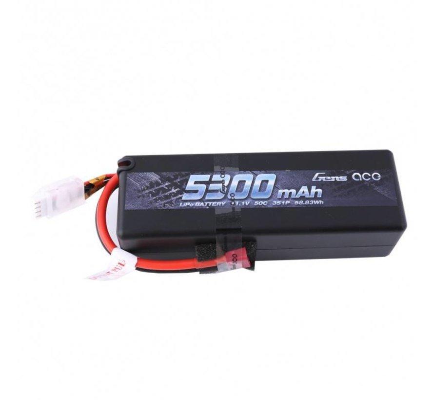 Gens ace 5300mAh 11.1V 50C 3S1P HardCase Lipo Battery15# with Deans plug