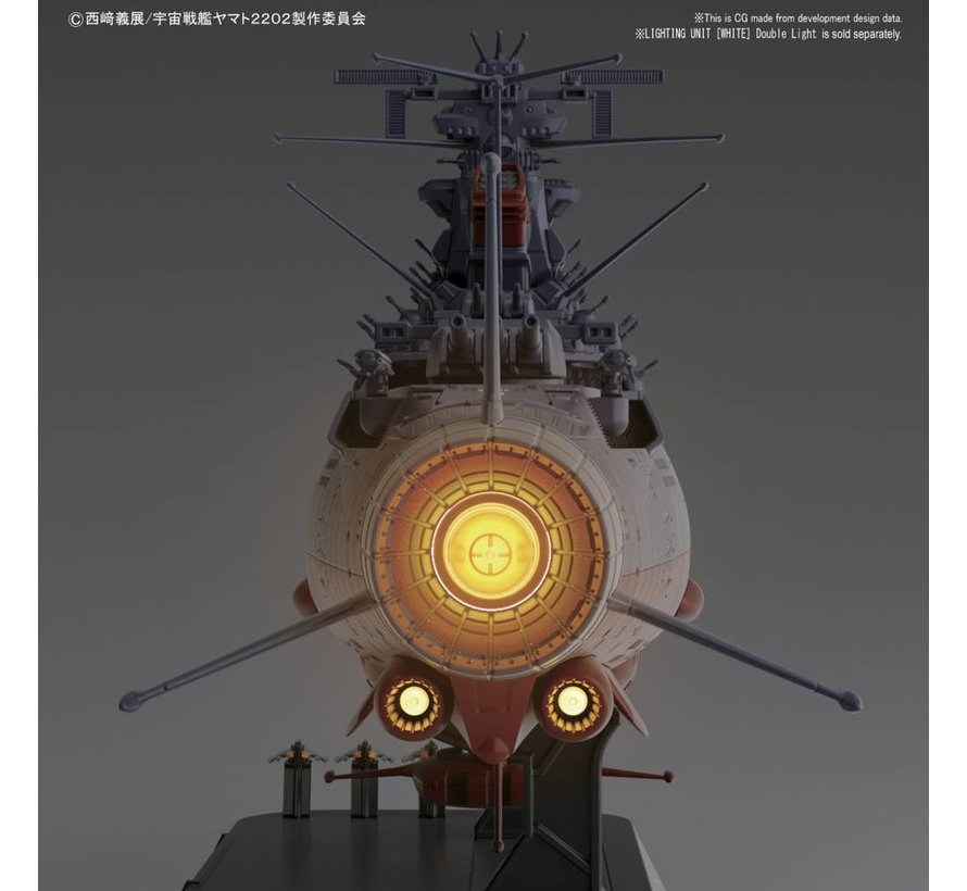 """219552 Space Battleship Yamato """"StarBlazers 2202"""", Bandai Starblazers 1/1000"""