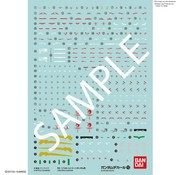 Bandai No.112 RG 1/144 UNICORN GUNDAM Decals