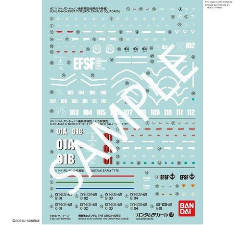 """BANDAI MODEL KITS 221293 GUNDAM DECAL No.113 Multi-Use """"MOBILE SUIT GUNDAM THE ORIGIN"""" Bandai Decals"""