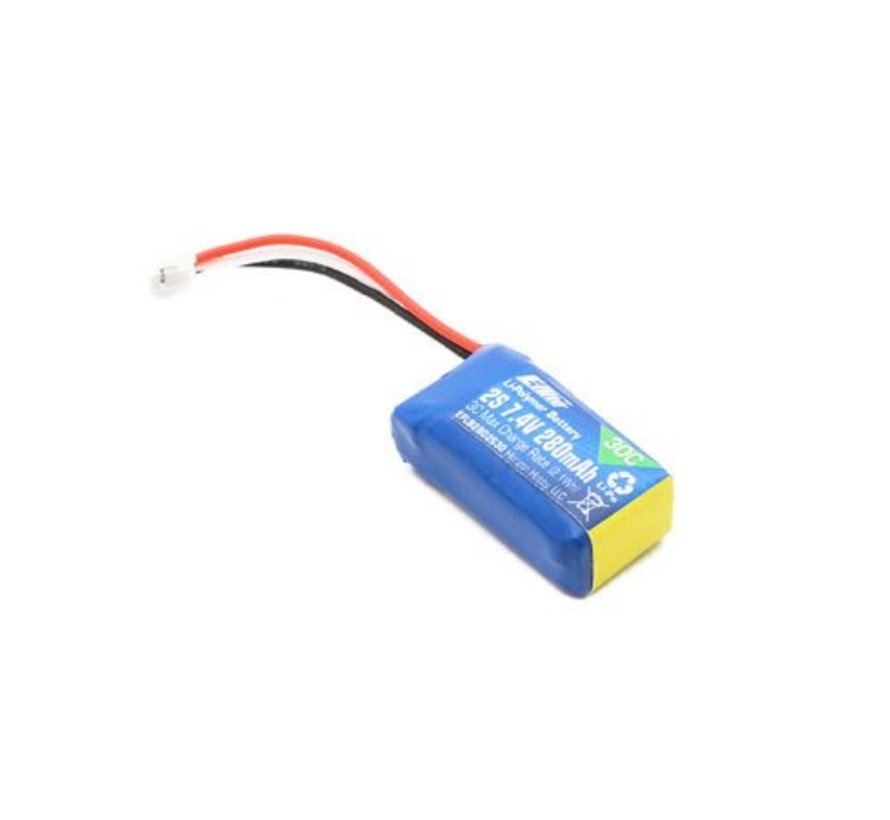 B2802S30 Li-Po Battery Pack 280mAh 2S 7.4V 30C