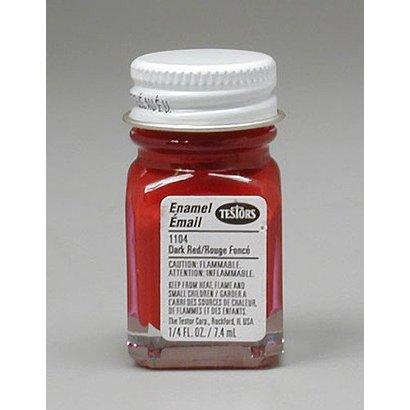 TES - Testors 1104 Enamel 1/4oz Dark Red *