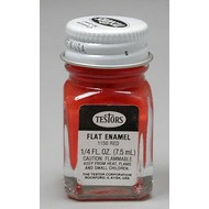 TES - Testors 1150 Enamel 1/4oz Flat Red *