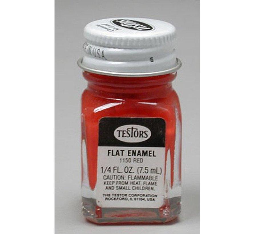1150 Enamel 1/4oz Flat Red *
