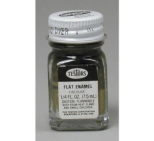 TES - Testors 1165 Enamel 1/4oz Flat Army Olive