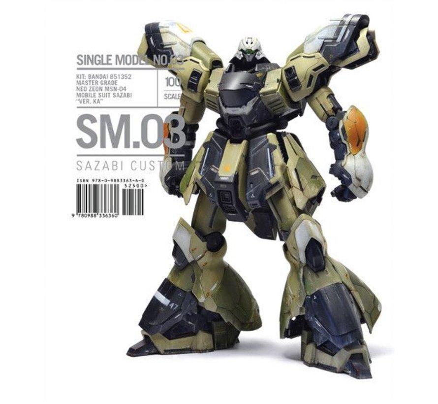 MS3 Single Model No.3: Sazabi Custom Bandai MG Gundam Neo Zeon Mobile Suit (Ltd Edition) Softback Book