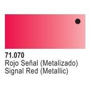 VLJ-VALLEJO ACRYLIC PAINTS 71070 - TURN-SIGNAL RED METAL       17ML