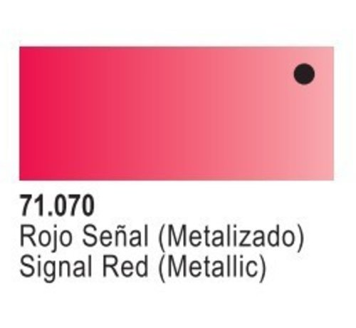 VALLEJO ACRYLIC (VLJ) 71070 - TURN-SIGNAL RED METAL       17ML