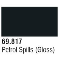 VLJ-VALLEJO ACRYLIC PAINTS 69817 Petrol Spills (Gloss) Mecha Color 17ml Bottle