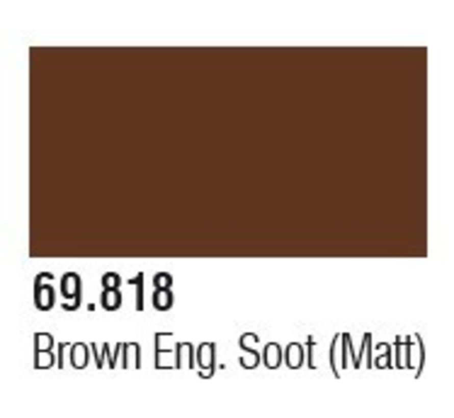 69818 Brown Engine Soot (Matt)  Mecha Color 17ml Bottle