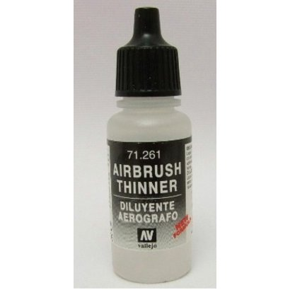 VLJ-VALLEJO ACRYLIC PAINTS 71261 - AIRBRUSH THINNER            17ML