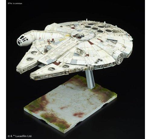 "BANDAI MODEL KITS 219770 Millennium Falcon ""Star Wars: The Last Jedi"", Bandai Star Wars 1/144 Plastic Model"