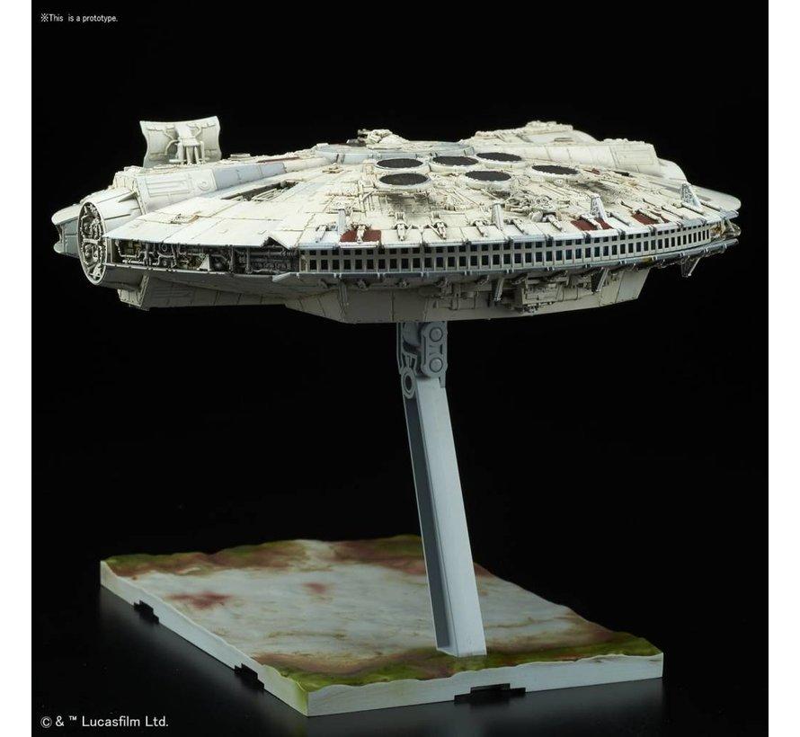"""219770 Millennium Falcon """"Star Wars: The Last Jedi"""", Bandai Star Wars 1/144 Plastic Model"""