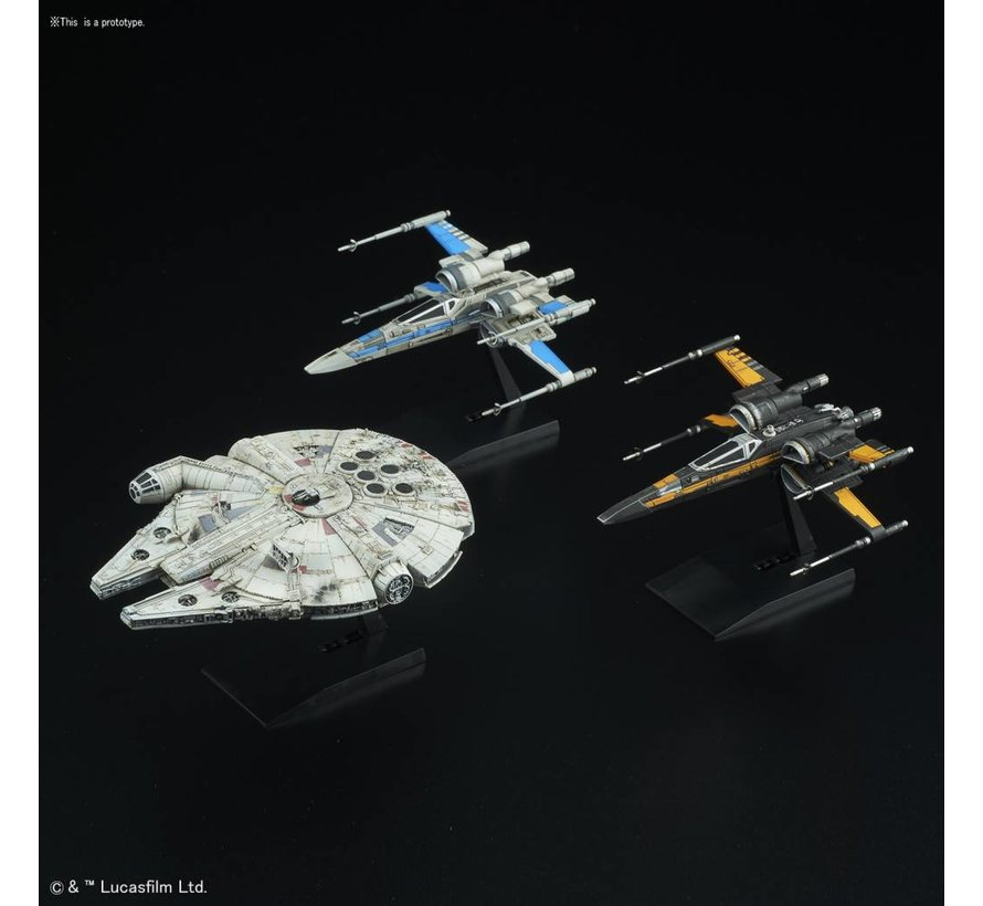 "219769 Resistance Vehicle Set ""Star Wars: The Last Jedi"", Bandai Star Wars 1/144 & 1/350 Plastic Model"