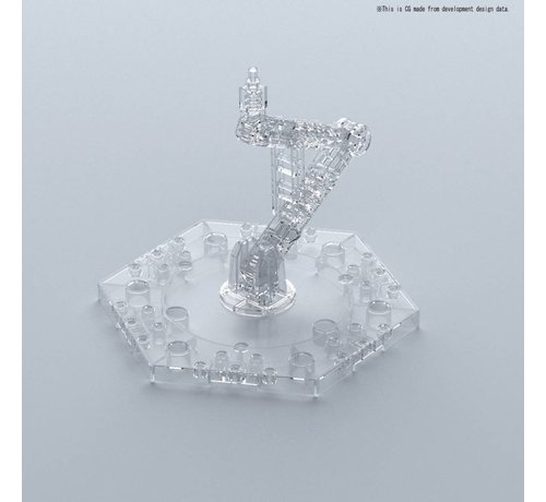 BANDAI MODEL KITS 222132 Clear Action Base 5 - Bandai Action Base