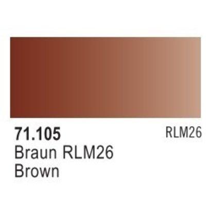 VLJ-VALLEJO ACRYLIC PAINTS 71105 - BROWN RLM 26                17ML