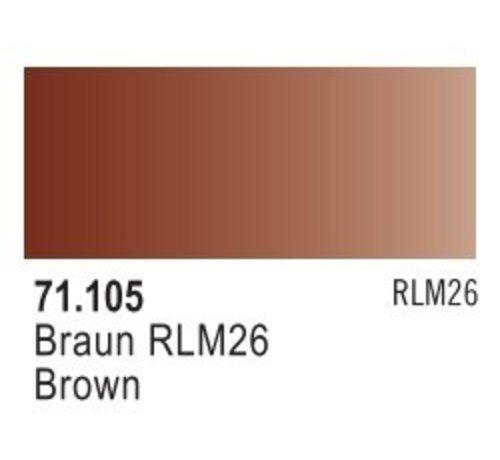VALLEJO ACRYLIC (VLJ) 71105 - BROWN RLM 26                17ML
