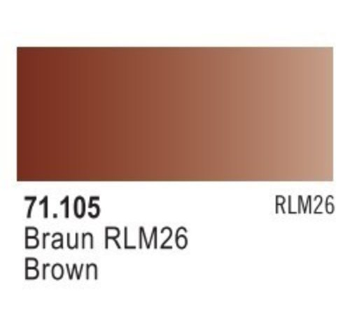 VLJ-VALLEJO ACRYLIC PAINTS 71105 - BROWN RLM 26                17ML