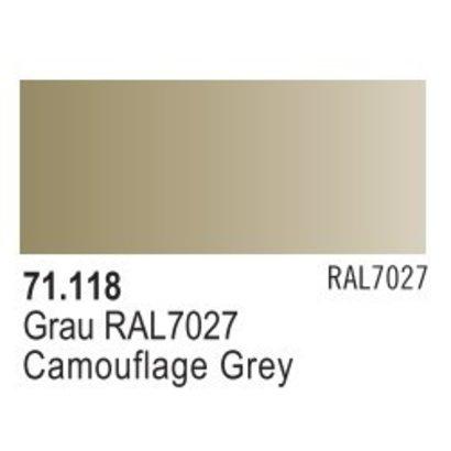 VLJ-VALLEJO ACRYLIC PAINTS 71118 - CAMOUFLAGE GREY             17ML