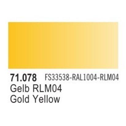 VLJ-VALLEJO ACRYLIC PAINTS 71078 - GOLD YELLOW                 17ML