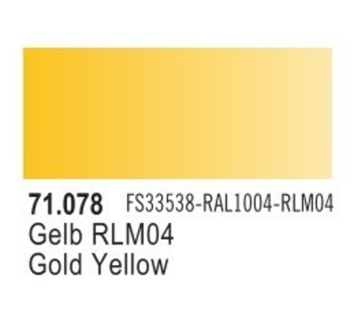 VLJ-VALLEJO ACRYLIC PAINTS 71078 - GOLD YELLOW                 17ML