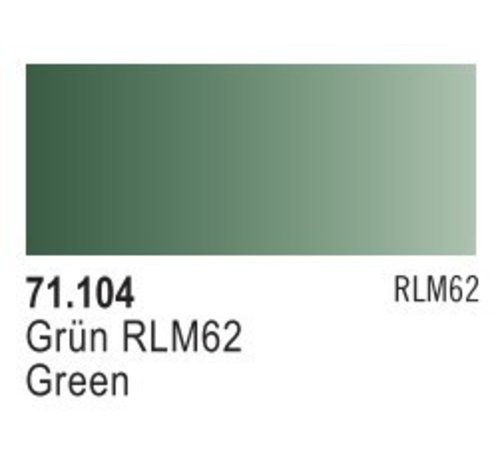 VALLEJO ACRYLIC (VLJ) 71104 - GREEN RLM 62                17ML