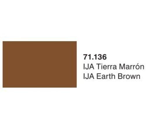 VLJ-VALLEJO ACRYLIC PAINTS 71136 - IJA EARTH BROWN             17ML