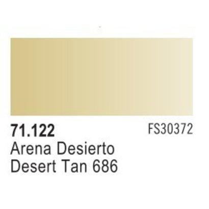 VLJ-VALLEJO ACRYLIC PAINTS 71122 - DESERT TAN 686              17ML