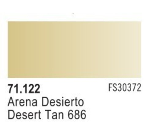 VLJ-VALLEJO ACRYLIC PAINTS 71122 - DESERT TAN 686              17ML