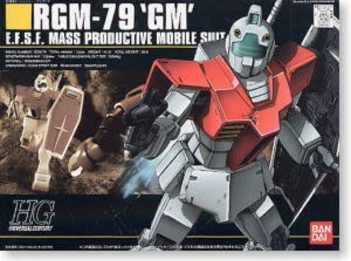 "BANDAI MODEL KITS 101787 #20 RGM-79 GM ""Mobile Suit Gundam"" Bandai HGUC 1/144"