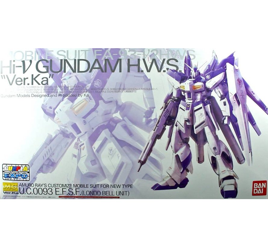 201889 MG 1/100 HWS Hi-nu Gundam Ver Ka Mechanical Clear Model