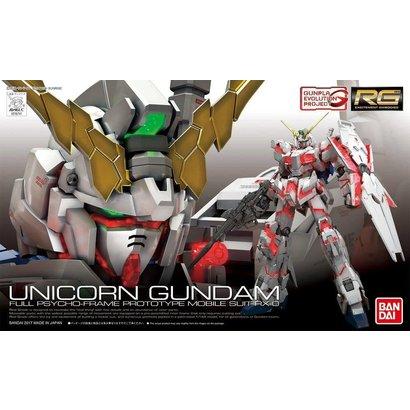 "BANDAI MODEL KITS 220714 #25SP RX-0 Unicorn Gundam (First-Run Limited Edition Package) (Tentative) ""Gundam UC"", Bandai RG 1/144"