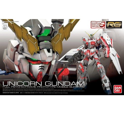 "BANDAI MODEL KITS 220714 #25SP RX-0 Unicorn Gundam (First-Run Limited Edition Package) (Tentative) ""Gundam UC"", Bandai RG 1/144"