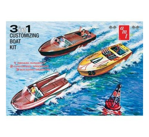 AMT - AMT Models AMT1056/12 1/25 Customizing Boat 3 in 1 Plastic Model Kit