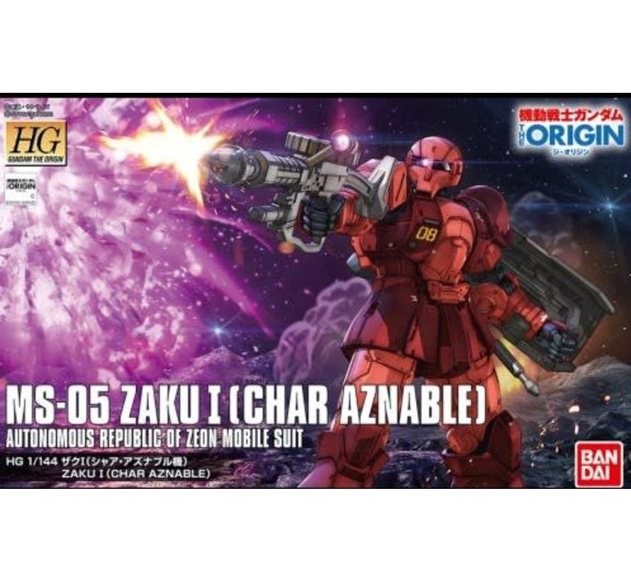 "216379 MS-05 Zaku I Char Aznable Battle of Mare Smythii] ""The Origin"", Bandai HG 1/144"